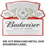 ダイカットエンボスメタルサイン BUDWEISER LABEL