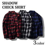 3color チェックシャツ メンズ レディース ユニセックス 男女兼用 ボタンシャツ 長袖シャツ 大きいサイズ