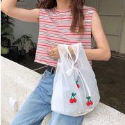バッグ ハンドバッグ さくらんぼ エコバッグ トートバッグ 韓国ファッション