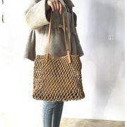 バッグ かごバッグ 透かし編み ビーチ 透かし編み カジュアル トートバッグ 韓国ファッション