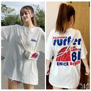 メール便661950】大きいサイズ 韓国 ファッション 虹 英字プリント Tシャツ ワンピース LL-4L
