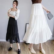 韓国ファッション INS熱い販売  新登場!【2019春夏新作】 ティアードスカート レディース ドット柄