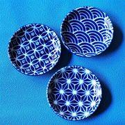 【瑠璃小紋】丸型3寸皿 [日本製 美濃焼]