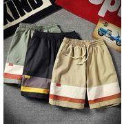メンズ新作半ズボン ジョガーパンツ チノパン ハーフパンツ ブラック/ベージュ/グリーン3色
