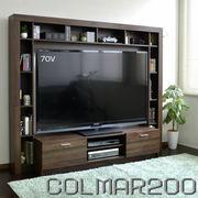 【10/上】  テレビ台 ハイタイプ 壁面家具 ブラウン 収納  70インチ対応 ブラウン COLMAR200-BR