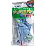 ピッタリ背抜き +プレス 手袋 No.261 ブルー Lサイズ 1双入