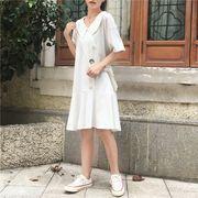 夏2色 ★韓国ファッション可愛 レディーズ 合わせやすい カジュアル ワンピース