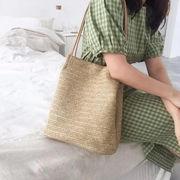バッグ カジュアル トートバッグ かごバッグ エコバッグ オシャレ シンプル 韓国 ファッション