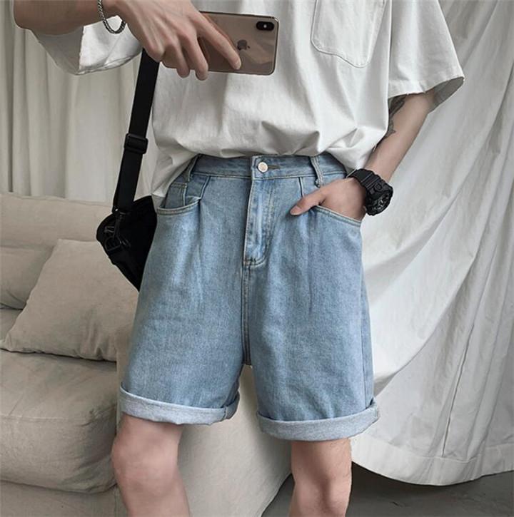 華やかな印象に 夏 シック ジーンズ カジュアル 香港風 学生 潮 怠惰な風  学院風 ワイドパンツ