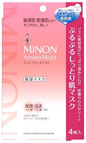 ミノン アミノモイスト ぷるぷるしっとり肌マスク 22ml 4枚入り