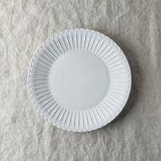 シュシュ・グレース 20cm皿 ラスティックホワイト[美濃焼]