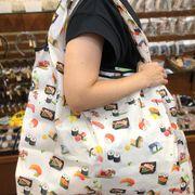 エコバック  eco bag 03 お買いものバック アニマル柄 ネコ ふくろう フラワー ツリー 扇子 寿司 おみやげ