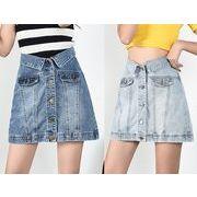 韓国ファッション可愛 レディーズ 合わせやすい ハイウェスト ミニスカートカジュアル スカート