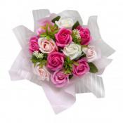 ミスティローズブーケ(手提げ袋付き)ソープフラワー 造花 母の日 お花 プチギフト
