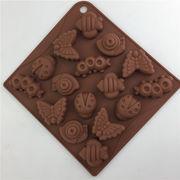 激安☆フォンダン★チョコ★アロマ★ゴム型 UVレジン★モールド★キャンデー★クッキー★氷型虫