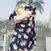 【即納】海 ビーチウェア 水着の上に 花柄 19ss-067 2019 夏新作【メール便可】