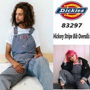 【DICKIES】(ディッキーズ) USA企画 Hickory Stripe Bib Overalls / ヒッコリー オーバーオール