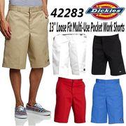 "【DICKIES】(ディッキーズ) USA企画 13"" Loose Fit Pocket Work Shorts / ハーフパンツ (5色)"