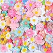 樹脂の花パーツ クリーム携帯ケースの付属品 キャラクターアクセサリー素材 花福袋diyアクセサリー