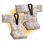 遠赤綿入り裏フリースかいまき布団2色組(衿カバー付き)