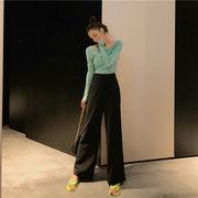 大好評につSALE延長 ファッション カジュアル ゆったり ワイドレッグパンツ ズボン
