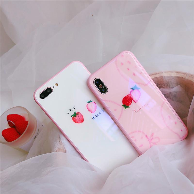 果物柄スマホケース アイフォンケース iPhone7 plus/8 plusカバー