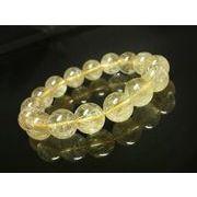 お買い得 現品一点物 ゴールドルチルブレスレット 金針水晶数珠 13ミリ R168 最強金運