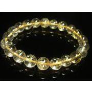 お試し価格 現品一点物 透明感 ゴールド ルチル クォーツ ブレスレット 水晶 数珠 10ミリ R39