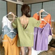 何でも似合う シャツ 女 夏 新しいデザイン 心 機 デザイン 感 小 包帯 セクシー