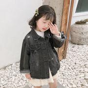 デニムコート 男の子 女の子 ジャケット 上着 2019新作 長袖 アウター 春秋コート 防風 キッズ 子供服