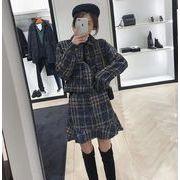 YUNOHAMIツイードジャケット セットアップ レディース トップス スカート通勤 韓国 秋冬 即納 女性 上品