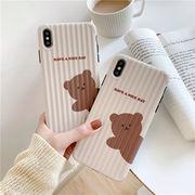 動物 iPhone保護カバー 熊 アイフォーンケース iPhone ケース