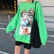 秋2色★新作ファッション可愛 合わせやすい カジュアル プリント長袖カットソーブラウス  シャツ