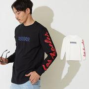 ボックス ロゴ 袖 プリント ロンT メンズ レディース Tシャツ 長袖 ロンティー ロング カットソー サーフ系