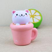激安☆サンプル★スクイーズ★フォーカス玩具squishyストレス解消グッズ★猫雑貨 ネコ コーヒー