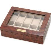 時計収納ケース 腕時計時計コレクションケース ディスプレイケース 木製 ブラウン 10本用 時計雑貨