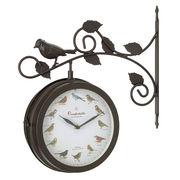 OLD STREET 壁掛け両面時計 時報付き バード ブラウン