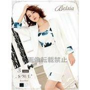 【Belsia】水彩花柄タイトワンピーススーツ 長袖2pセットアップキャバクラスーツ【ベルシア】*503377