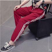 【大きいサイズL-4XL】ファッション/人気パンツ♪ダークアカ/ブラック2色展開◆