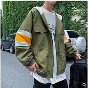 【大きいサイズM-5XL】ファッション/人気ジャケット♪イエロー/ダークグリーン2色展開◆