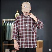 【大きいサイズM-5XL】ファッション/人気ワイシャツ♪アカ/グリーン2色展開◆