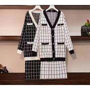 【大きいサイズXL-4XL】ファッション/上下セットトップス♪ブラック/ホワイト2色展開◆