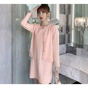 【大きいサイズL-4XL】ファッション/2枚セットワンピース♪ピンク/グリーン2色展開◆