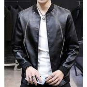 【大きいサイズM-4XL】ファッション/人気ジャケット♪ブラック/ブラウン/アカ3色展開◆