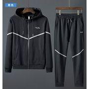 【大きいサイズM-8XL】ファッション/人気トップス(上下セット)♪ブラック/ライトグレー2色展開◆