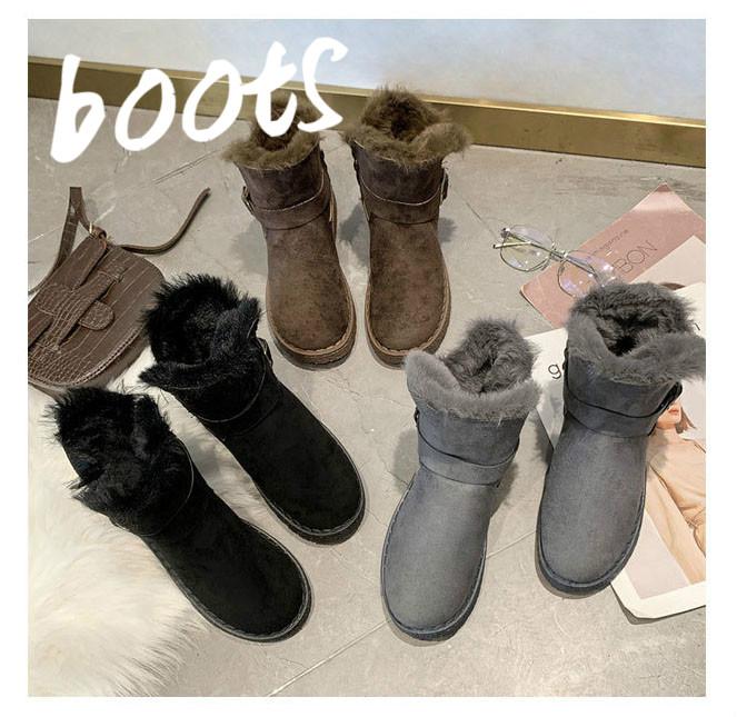 2019新作 秋冬レディース靴 ムートンブーツ ショート丈 暖かい 裏起毛 もこもこ 滑り止め ベルト付き