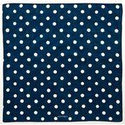 【ご紹介します!安心の日本製!青が美しい!KYOTO BLUE ハンカチ】大玉