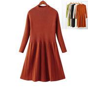冬 新しいデザイン 韓国風 着やせ 着やせ 女性の長いセクション ニット パッケージ 芯