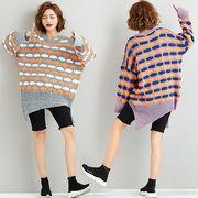 【秋冬新作】ファッションセーター♪グレー/パープル/ブルー3色展開◆
