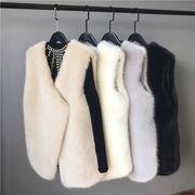 大好評につSALE延長💙 韓国 ファッション ミディアムロング ウォータージャケット ベスト 毛皮